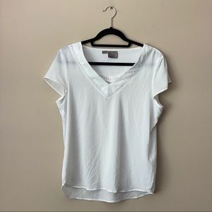 Vero Moda white short-sleeve blouse